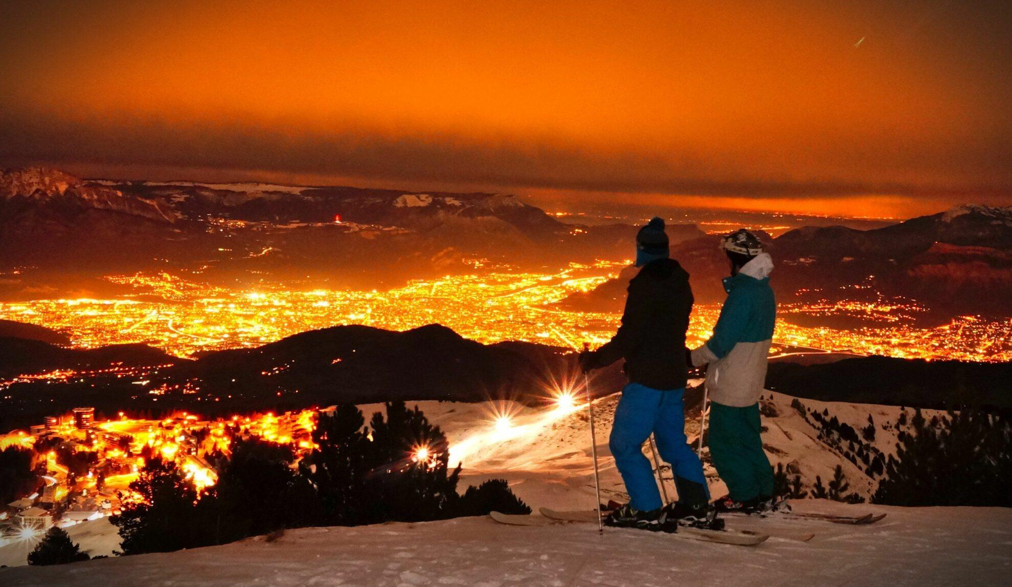 Ski de nuit à Chamrousse