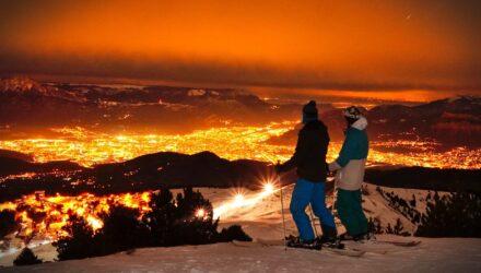 Ski de nuit à Chamrousse - Photographies