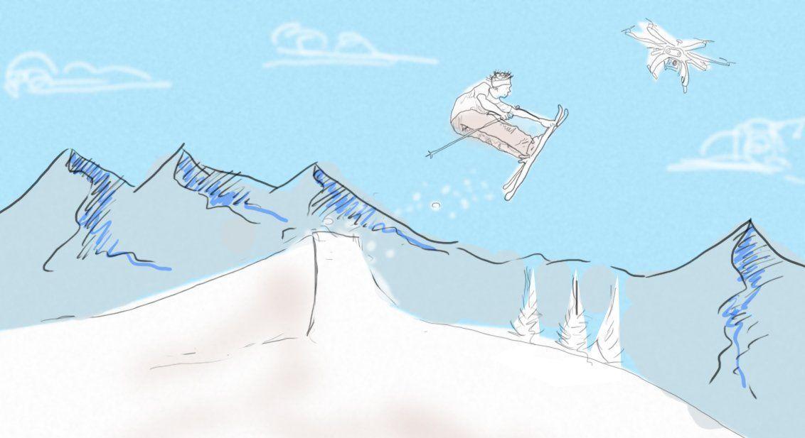 drone-ski