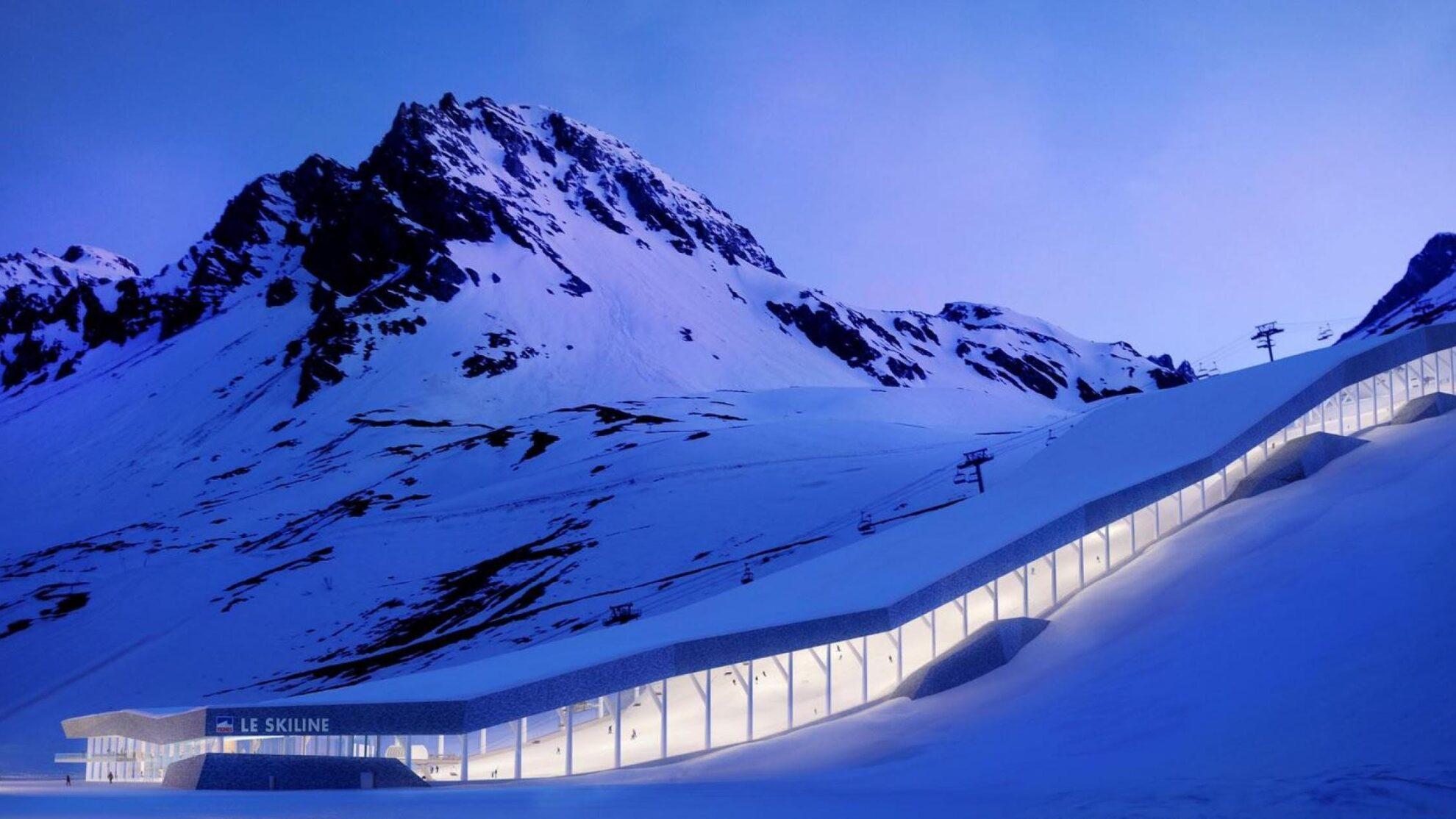 Un ski dôme en montagne ?