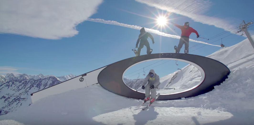 box sur le snowpark de Cauterets