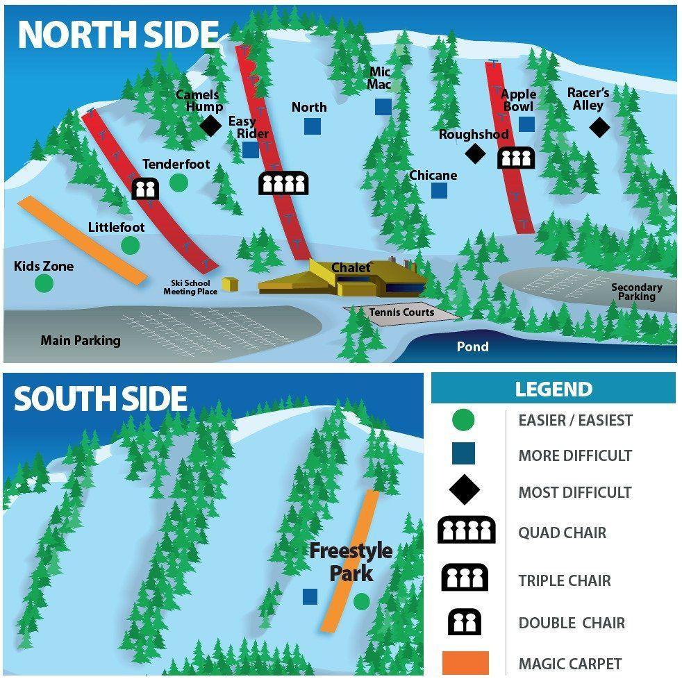 Plan des pistes de Chicopee