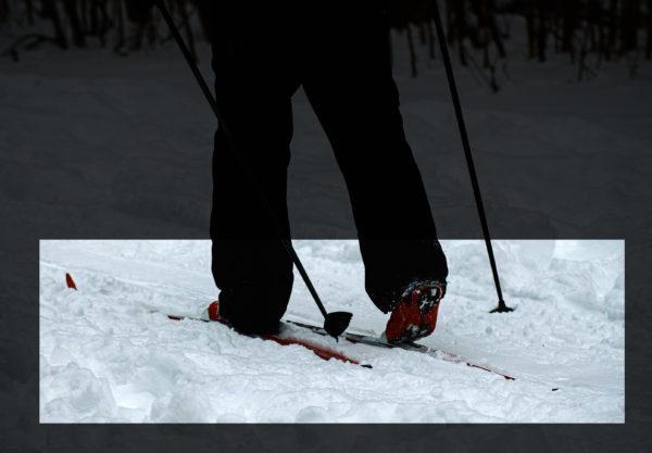 jambes de skieur de fond