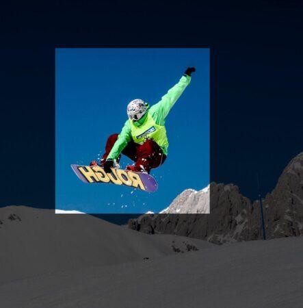 snowboarder faisant un grab