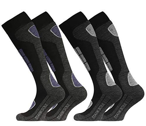 2 Paires de chaussettes de ski hautes