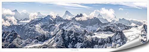 Poster panoramique montagnes