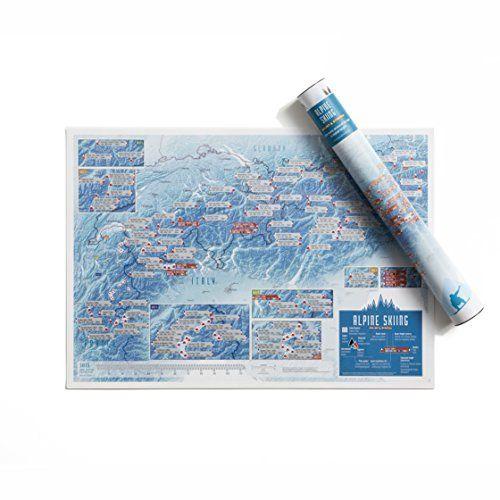 Carte des stations des Alpes