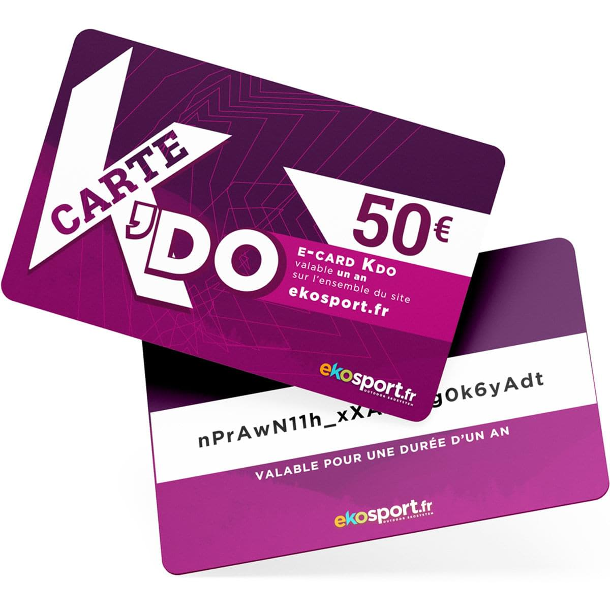 Carte cadeau Ekosport 50 euros