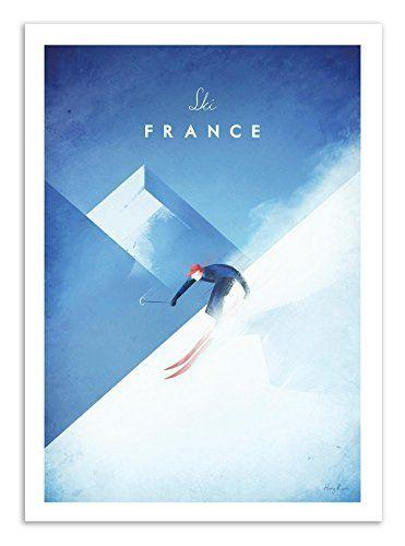 Poster vintage ski