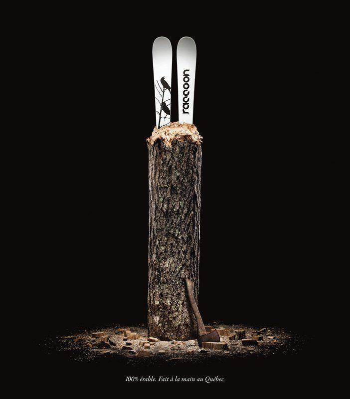 Raccoon, les skis 100% érable